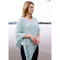 (AY 1102 Brushed Alpaca Poncho)