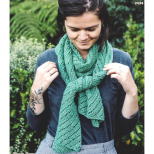 AY 2434 Diagonal Lace Stitch Scarf