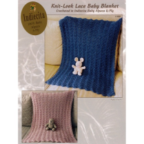 (AY1400 Knit-Look Lace Baby Blanket)