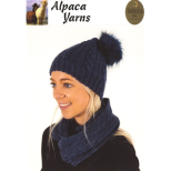 AY1538 Cabled Beanie and Cowl