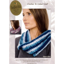 (AY2117 Crochet Tri Colour Cowl)