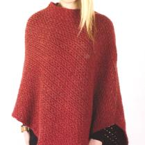 (AY2608 Twisted Rib Poncho)