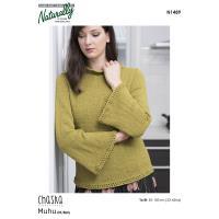N1489 Bell Sleeve Sweater