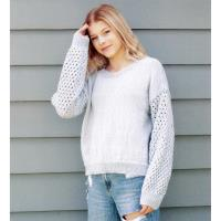 N1545 Lace Sleeve Sweater