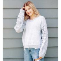 (N1545 Lace Sleeve Sweater)