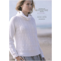 (429 Moss Cable Sweater)