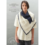 SF469 Square Cable Top and Shawl
