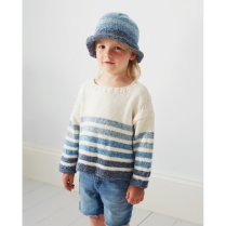 (DB099 Striped Sweater and Hat)
