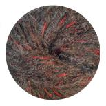 17 Charcoal Red Thread
