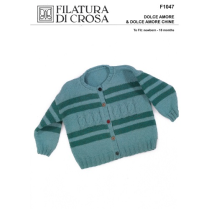 (F1047 Cable and Stripe Cardigan)