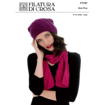 (F1147 Slouchy Hat and Scarf)