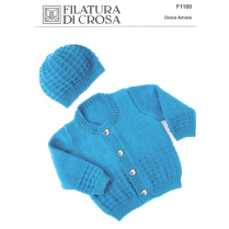 (F1160 Cardigan and Hat)