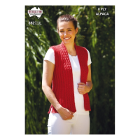 362 Rib and Cable Vest