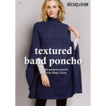 (HL004 Textured Band Poncho)