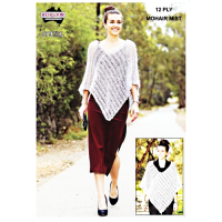 HL379 Mohair Poncho 12 Ply