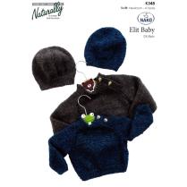 (K348 Raglan Sweater and Hat)