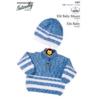 K337 Tab Front Sweater and Hat