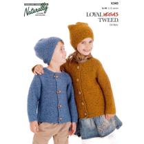 (K345 Garter Stitch Jacket and Hat)