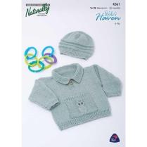 (K361 Sweater with Owl Pocket)