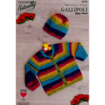 K376 Raglan Cardi and Hat