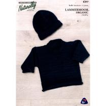 (K397 Rolled Edges Sweater & Hat)
