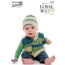 (K729 Garter Stitch Vest and Hat)