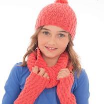 (K763 Hat, Cowl & Wrist Warmer)
