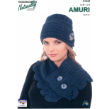 N1232 Hat and Leaf Edged Cowl