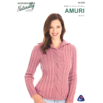 (N1370 Sweater with Cable Front)
