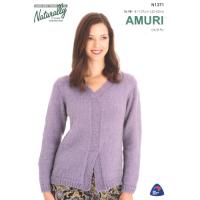 N1371 Split Front Sweater