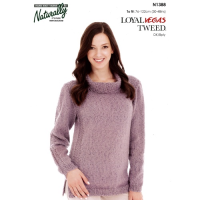 N1388 Sweater with Textured Panels