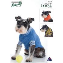 (N1417 Dog Sweater, Scarf and Cowl)