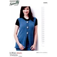 N1472 Rolled Edge 3 Button Vest