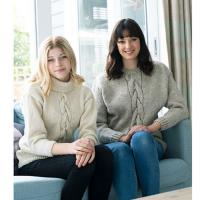 N1521 Centre Front Cable Sweater