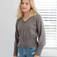 N1544 Fitting Cropped Sweater