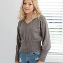 (N1544 Fitting Cropped Sweater)