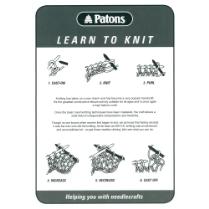 (LTK Learn to Knit Leaflet)