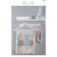 P1328 Crochet Blanket and Baskets