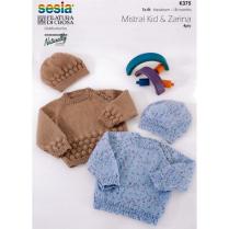 (K375 Raglan Sweater and Hat)