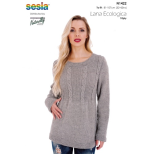 N1422 Cabled Yoke Sweater