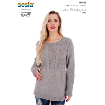 (N1422 Cabled Yoke Sweater)