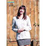 N1437 Cable Panel Sweater