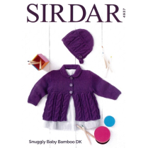 (Sl4937 Cardigan and Bonnet)