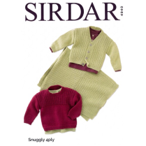 (SL4940 Sweater, Cardi and Blanket)