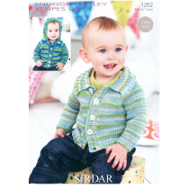 (1262D Cardigan with Collar or Hood)