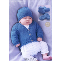 (1365 Cardi, Hat, Boots and Mitts)