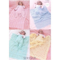 1368 Crochet Blankets and Shawls 4 Ply