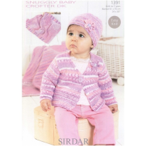 (1391 Cardigan, Hat and Blanket)