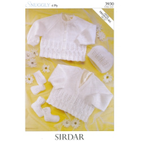 3930 Cardigans, Bootees, Hat, Mittens