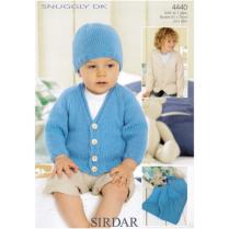 (4440 Cardigan, Hat & Blanket)